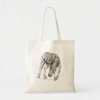 Zebra on tote bag
