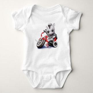Zebra on Tricycle Onsie Baby Bodysuit