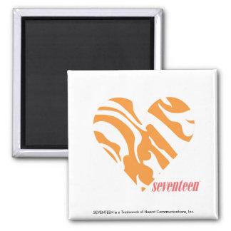 Zebra Orange 2 Refrigerator Magnets