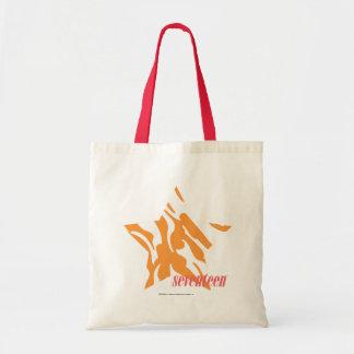 Zebra Orange 3 Tote Bag