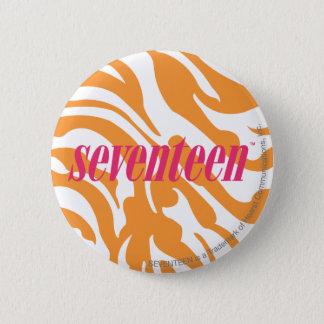 Zebra Orange 6 Cm Round Badge