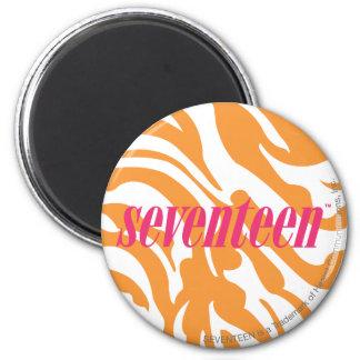 Zebra Orange 6 Cm Round Magnet