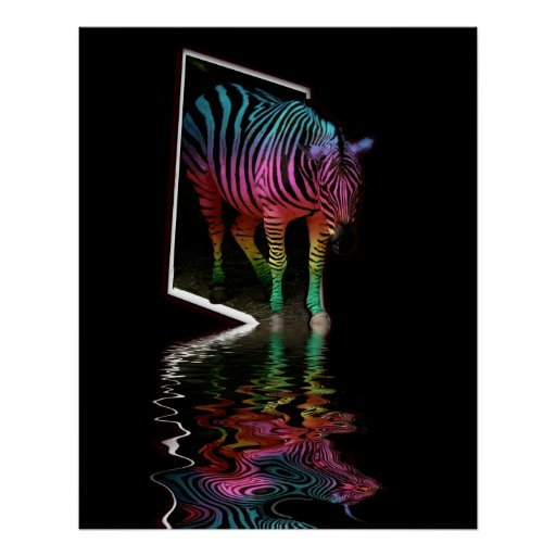Zebra painted flood four poster