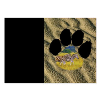 Zebra pair Footprint Pack Of Chubby Business Cards