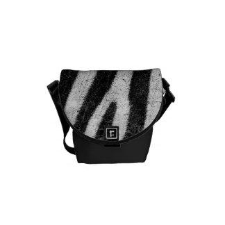 Zebra Pattern Abstract Rickshaw Messenger Bag