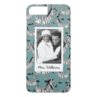 Zebra Pattern | Add Your Photo & Name iPhone 8 Plus/7 Plus Case