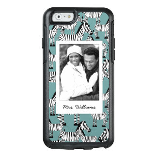 Zebra Pattern | Add Your Photo & Name OtterBox iPhone 6/6s Case