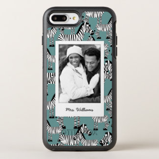 Zebra Pattern | Add Your Photo & Name OtterBox Symmetry iPhone 7 Plus Case