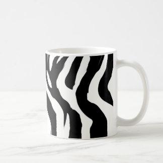 zebra-pattern basic white mug