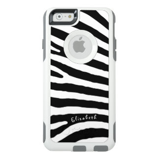 Zebra Pattern, Black & White Stripes, Your Name OtterBox iPhone 6/6s Case