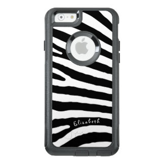 Zebra Pattern, Black & White Stripes, Your Name OtterBox iPhone 6/6s Case