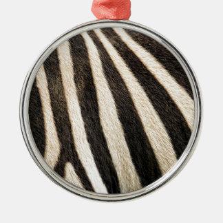 Zebra pattern christmas ornament