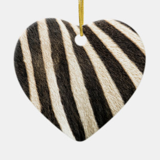 Zebra pattern christmas ornament