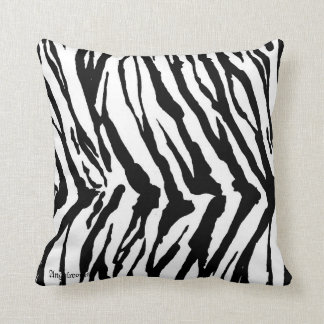 Zebra pattern cushion