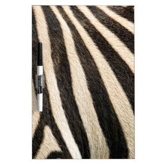Zebra pattern dry erase board