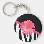 Zebra Pattern Girly Pink Daisy