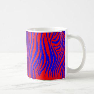 Zebra Pattern in Color Basic White Mug