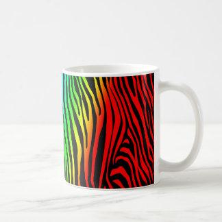 Zebra Pattern in Color Mugs