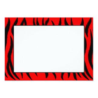 Zebra pattern 13 cm x 18 cm invitation card