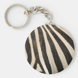 Zebra pattern key ring