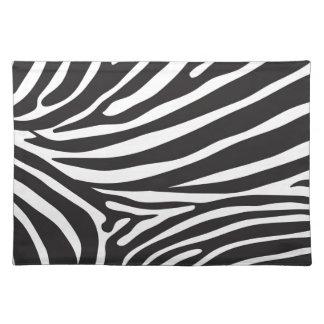 Zebra pattern, modern zebra print black and white placemats