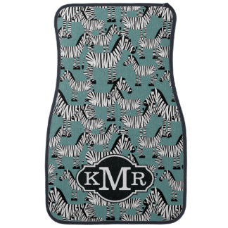 Zebra Pattern | Monogram Car Mat