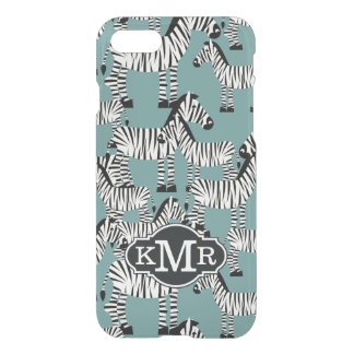 Zebra Pattern | Monogram iPhone 8/7 Case