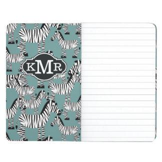 Zebra Pattern | Monogram Journal