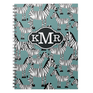 Zebra Pattern | Monogram Notebooks