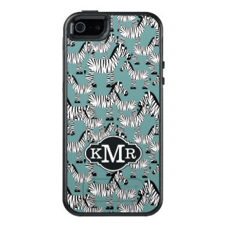 Zebra Pattern | Monogram OtterBox iPhone 5/5s/SE Case