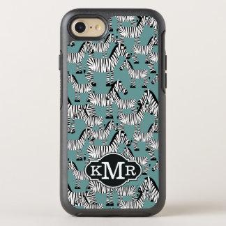 Zebra Pattern | Monogram OtterBox Symmetry iPhone 8/7 Case