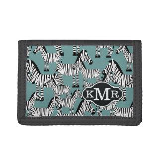 Zebra Pattern | Monogram Tri-fold Wallets