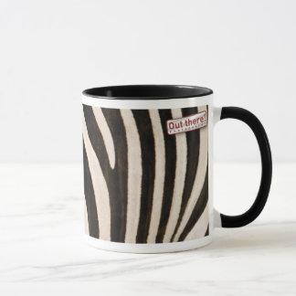 Zebra pattern mug