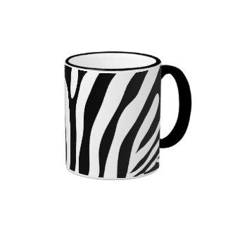 Zebra pattern multiple items ringer mug