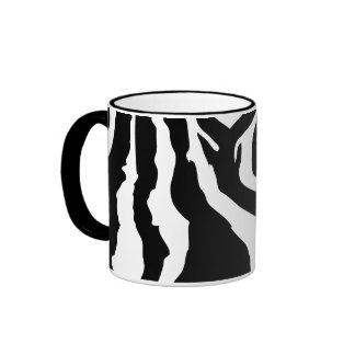 Zebra Pattern Ringer Mug