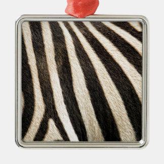 Zebra pattern Silver-Colored square decoration