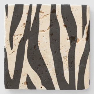Zebra Pattern Stone Coaster Stone Beverage Coaster