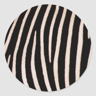 Zebra pattern stripes round sticker