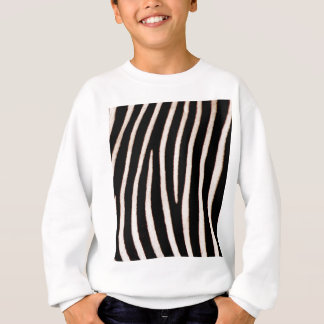 Zebra pattern stripes sweatshirt