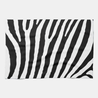 Zebra pattern tea towel