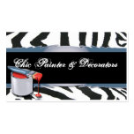 Zebra Pattern with Paint Tin Business Card Templates