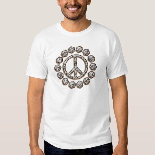 ZEBRA PEACE SIGN T SHIRTS