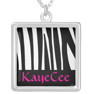Zebra- Personalized Necklace