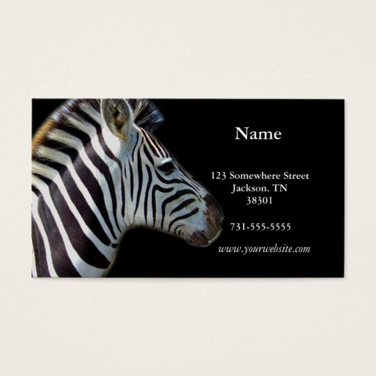 Zebra Photograph Business Cards