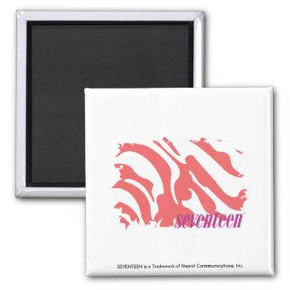 Zebra Pink 4 Fridge Magnets