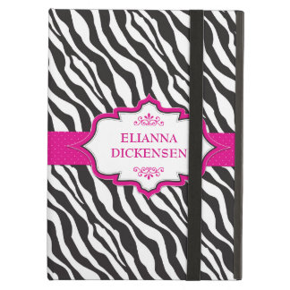 Zebra Pink Ribbon iPad Air Covers