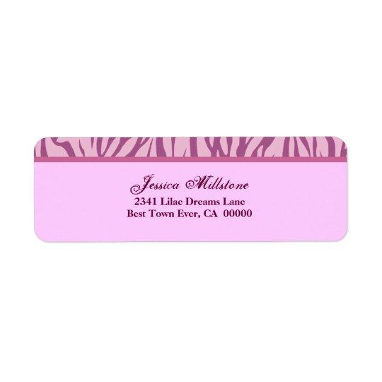 Zebra Pink Stripe