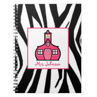 Zebra & Pink Teacher Notebook