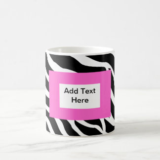 Zebra Pink White Template Basic White Mug