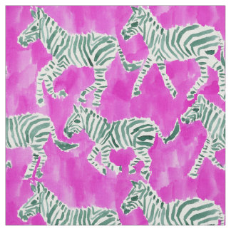 ZEBRA PLAY Chic Safari Watercolor Fabric